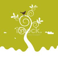 Tree,Bird,Mountain,Branch,M...
