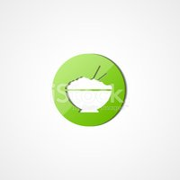 Rice in plate web icon