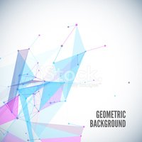Abstract geometric background with circles, lines