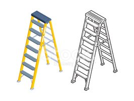 Ladder,Isometric,Staircase,...