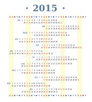 2015,Horizontal,Calendar,Ve...