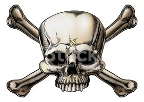 Human Skull,Death,Pirate,Wh...