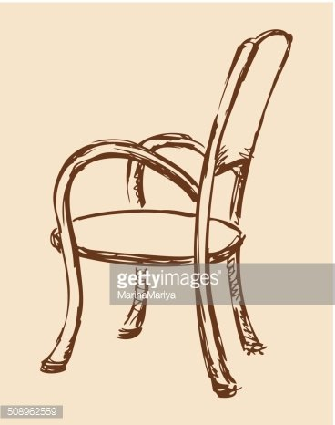 Vector Wooden Chair With Armrests stock vectors Clipartme
