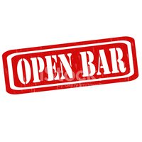 Open bar. Stamp stock vectors clipart