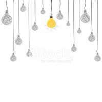 Light Bulb,Yellow,Hanging,S...