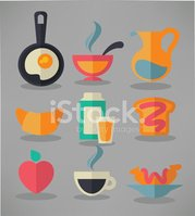 Computer Icon,Eggs,Coffee -...
