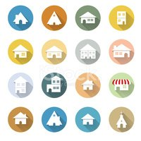 vector of various web icon flat design EPS10