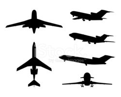Commercial Airplane,Flying,...