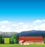 Ranch,Nature,Vector,Field,S...