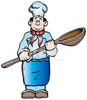 Chef,Cooking,Cartoon,Mixing...