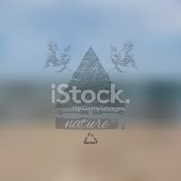 Vector blurred landscape, ecology theme, nature view.