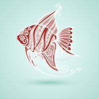 Fish,Pattern,Decor,Abstract...