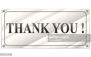 Vector thank you metal sign