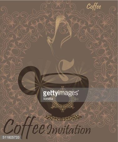coffee invitation for restaurant template sweet design stock