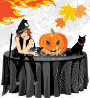 Hat,Holiday,Spooky,Tableclo...