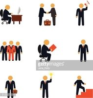 Stock vector business people flat icon set