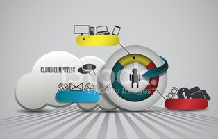 Cloud Computing,Ilustration...