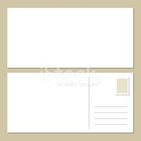 Postcard,Rear View,Paper,Bl...