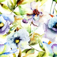 Floral Pattern,Watercolor P...