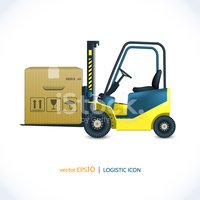Forklift,Delivering,Engine,...