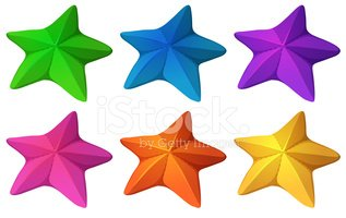 Colourful starfishes