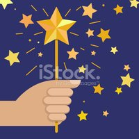 Gold,Blue,Star Shape,Gold C...