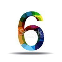 Number 6,Red,Multi Colored,...