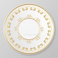 Plate,Old-fashioned,Gold Co...