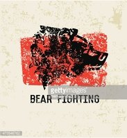 Bear design on old paper background,clean vector