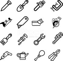Tool icon series set Icons
