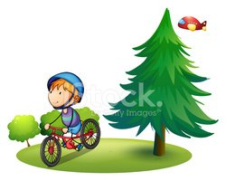Child,Cycling,Tree,Nature,H...