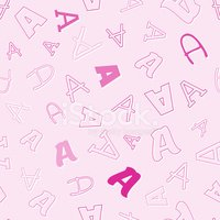 Pink Color,Ilustration,Type...