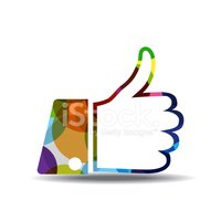 Thumbs Up Colorful Vector Icon Design