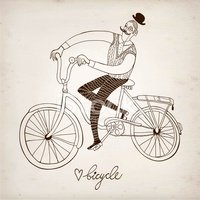 Men,Cycling,Old-fashioned,R...