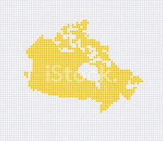 Canada,Map,Spotted,Vector,S...