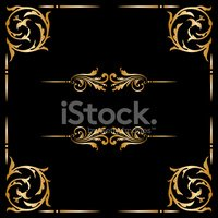 Gold Colored,Luxury,Frame,E...