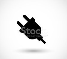 Electric plug-in icon vector