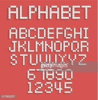 Pixel Alphabet of Numbers and Letters stock vectors - Clipart me