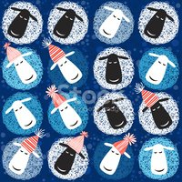 Sheep,2015,Blue,Christmas D...