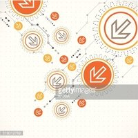 Abstract background with technological elements. Arrow theme