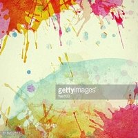 Abstract colorful painted watercolor splash and stain