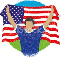 Fan,Soccer,USA,Cheering,Cel...