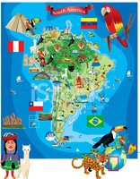 Ecuador,Flag,Map,Forest,And...