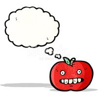 ugly apple cartoon