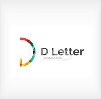 Letter D,Sign,Abstract,Vect...