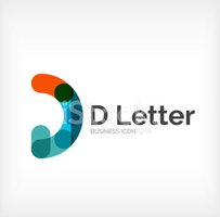 Letter D,typographic,Sparse...