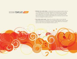 Presentation template with sample text layout