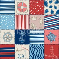 Patchwork,Blanket,Sea,Backg...