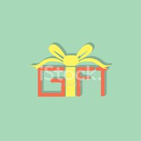 gift box flat icon  vector illustration eps10