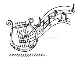 Black And White,Lyre,hand d...